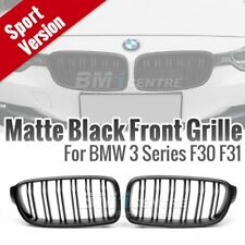 Matte Black Dual Fin Kidney Front Grille for BMW 3 series F30 F31 2012-16 OE fit