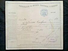 Patente 1910 70 pesos Administration Buenos Aires vieux papiers commerce