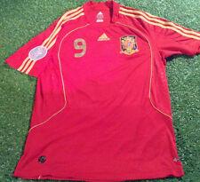 SPAGNA Espana Football Medium Mans TORRES N. 9 EURO di 2008 Home Camicia