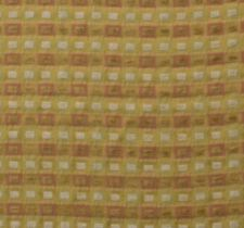 "CHENILLE CHECK PASTEL PINK YELLOW CARAMEL MULTIUSE FURNITURE FABRIC BY YARD 55""W"