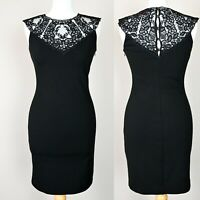 TED BAKER Knit Lace top Fitted Bodycon Dress SIZE UK 8 Pencil dress Knitted sexy