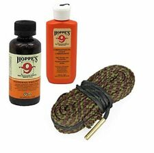 45 Caliber Gun Cleaning Snake w/ Cleaning Solvent & Lube Oil for Handgun, Pistol