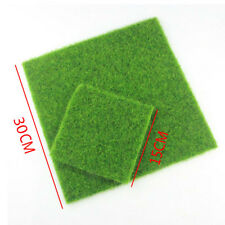 1x Artificial Grass Fake Lawn Simulation Miniature Garden Ornament Dollhouse Hot 30x30cm
