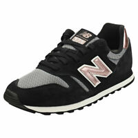 New Balance 373 Womens Black Rose Gold Suede & Textile Fashion Trainers