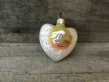 New ListingVintage Polish Glass Christmas Ornaments Angel Heart Wings Made in Poland