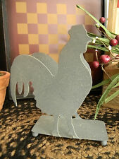 Galvanized Metal Napkin Holder Rooster Primitive Shabby Country Kitchen