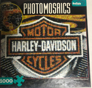 NEW Harley Davidson Photomosaics Puzzle 1000 Pieces with FREE SHIP NEVER OPENED