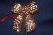 Danbury Mint 23 Kt Gold Pltd Christmas Ornament Presidents Seal On Bow