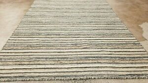 "EXCEPTIONAL HAND-KNOTTED KURDISH TRIBAL ""REVERSIBLE"" VINTAGE WOOL RUG 5'X8'*"