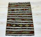 Cappadocia Traditional Embroidered Kilim Doormat Rug Tribal Vintage Carpet 2x3ft