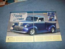 "1945 Chevrolet Pickup Truck Street Rod Article ""Veteran Hauler"""