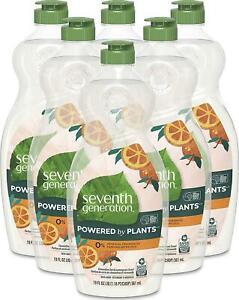 Seventh Generation Dish Soap Liquid Clementine Zest Lemongrass Scent, 114 Fl Oz
