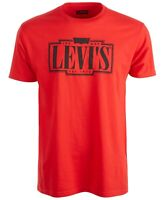 Levi's Mens T-Shirt Black Red Size XL Tracking Logo Graphic Crewneck Tee 056