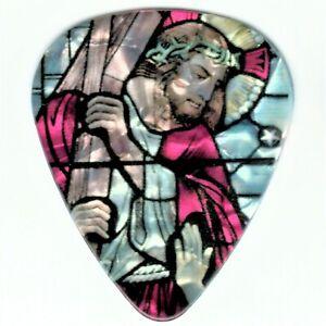 12 Religious Stained Glass Guitar Pick Jesus Cross Pray Strength Beautiful Picks