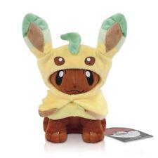 Pokemon Center Eevee Poncho Leafeon Soft Plush Doll Figure Toy 7inch