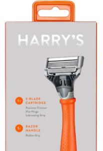 Harry's Razor Truman Bright Orange Handle Including 1 Blade Cartridge ! NEW !!!!