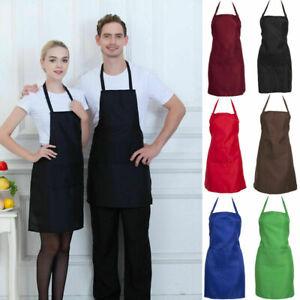 Premium 100%Cotton Apron Butchers Kitchen Cooks Apron With Two Front Pockets