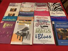 20 New Assorted Piano Method Books In The Jazz Genre-Several with Cds