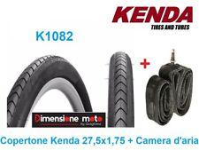 """1 Copertone KENDA 27,5x1,75 K1082 Nero + 1 Camera per Bici 27,5"""" MTB Mountain Bi"""