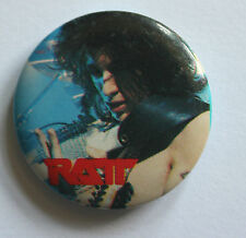 RATT Original VTG 1980`s Button Pin Badge Tour Promo 32mm not shirt patch lp cd