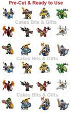 24 x LEGO NEXO KNIGHTS Edible Wafer Cupcake Toppers PRE-CUT Ready to Use