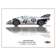 Print on paper Martini Porsche 917K #22 Marko / van Lennep Winners 24h LM 1971