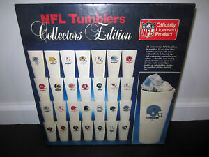 Vintage NFL Tumblers Collectors Edition Team Helmet Logo Cups Full Set of 28 Box