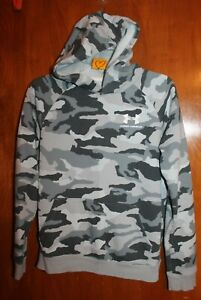 UNDER ARMOUR Boys' XL HOODIE SWEATSHIRT (gray camouflage; loose fit) EUC
