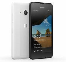 MICROSOFT NOKIA LUMIA 550 WHITE 4G UNLOCKED SMARTPHONE WINDOWS 10 NEW CONDITION