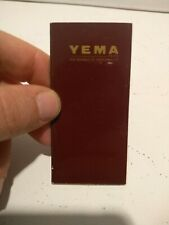 YEMA VINTAGE 1970s UNUSED BLANCK WATCH WARRANTY BOOKLET GARANZIA GUARANTEE
