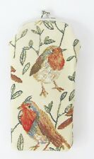 Robin bird Design Tapestry Reading Glasses Pouch  Signare