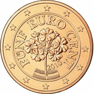 [#699033] Autriche, 5 Euro Cent, 2010, FDC, Copper Plated Steel, KM:3084