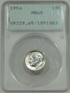 1954 Roosevelt Dime PCGS PR65 Old Green Holder OGH Rattler Early Prefix 1091083