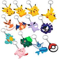 1Pcs Pokemon Holder Ring Keychain Pocket Pikachu Monster Keyrings accessories