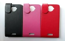 Vertical PU leather flip style phone case, cover to fit HTC One X