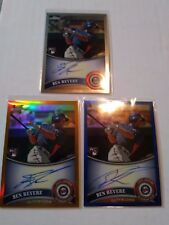 Ben Revere 2011 Topps Chrome Auto Lot of 3 Gold Ref, Blue Ref, Base Twins