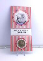 2011 $1 UNC Ram's Head Dollar Coin in Card C Canberra Mintmark