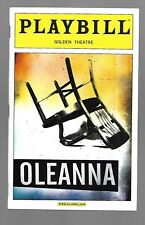 OLEANNA-PLAYBILL-GOLDEN THEATRE-OCTOBER 2009 EX CONDITION