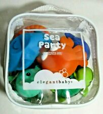 Elegant Baby Sea Party Squirtie Gift Set Of 6 BPA Phthalate Lead Free 6M+ New
