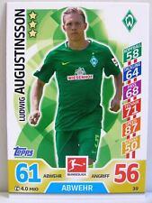 Match Attax 2017/18 Bundesliga - #039 Ludwig Augustinsson - SV Werder Bremen