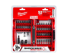 Milwaukee Impact Duty Driver Bit Set 52 Piece Power Tool Drilling Drill Bits Hex