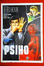 PSYCHO HITCHCOCK PERKINS LEIGH 1960 HORROR UNIQUE RARE EXYUGO MOVIE POSTER