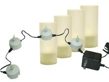 Velleman Xmcl2U 4 Rechargeable Candle Led Lights With Plastic Cups