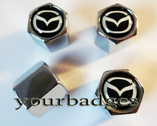Haute Qualité Métal CHROME MAZDA Bouchons de protection pneumatique Valve Caps