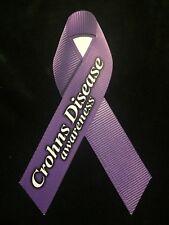 CROHNS DISEASE PURPLE RIBBON AWARENESS MAGNET