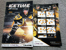 Pittsburgh Penguins 2017-18 MAGNETIC SCHEDULE Home Opener SGA Magnet w/ Program