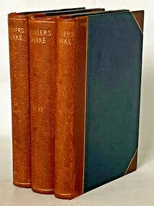 Antique, Schillers Werke, 3-Vol (11, 12-13 & 15) by A. Krutscher ca1914 -German