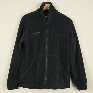 Columbia Core XCO Fleece Full Zip Long Sleeve Black Jacket Mens Sz S