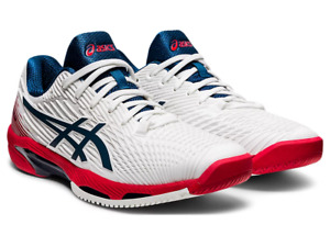 Mens Tennis Shoes ASICS SOLUTION SPEED FF 2 Trainers Sport Squash 1041A182-101