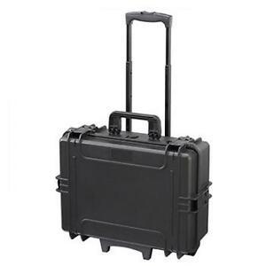 MAX505STR - Equipment Case wasserdicht, schwarz, als Trolley-Koffer mit ausziehb